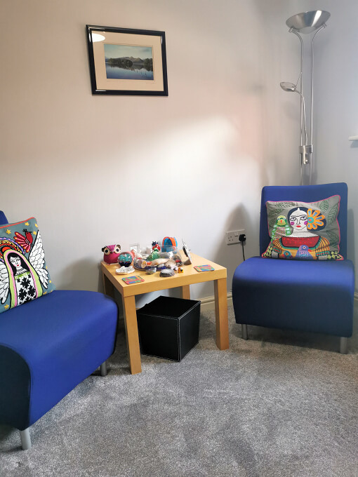 A photo of Susan's therapy room