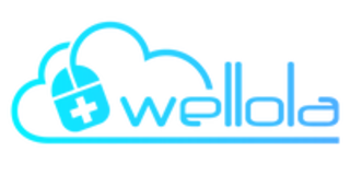Wellola Logo, in light blue