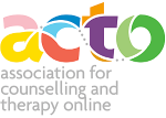 Logo for ACTO (the Association for Counselling and Therapy Online) - click on this image to open the official ACTO website in a new browser tab.